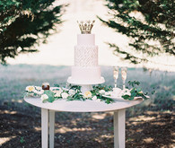 White Garden Wedding Dessert Table