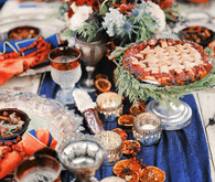 Rustic Christmas inspired tablescape