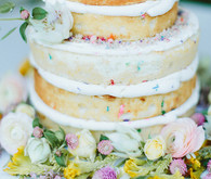 Whimsical California Wedding Cake