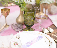 Modern Bohemian Wedding Place Setting