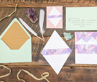 Modern Bohemian Wedding Invitation