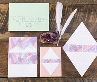 Modern Bohemian Wedding Purple Invitations