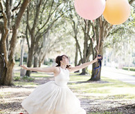 Bride with balloons