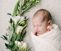 Spring Newborn Photos by Corrina Walker Photography | 100 Layer Cakelet