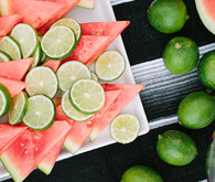 Watermelon and limes | Summer party ideas | photo by Taryn Kent | 100 Layer Cakelet