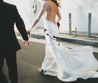 Modern wedding dress