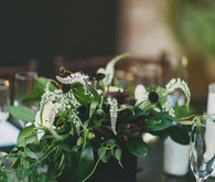 Dark floral centerpiece
