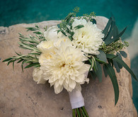 White dahlia bouquet