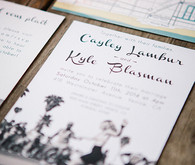 Venice beach wedding invites