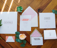 Modern wedding inviations