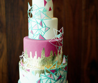 Geometric modern wedding cake