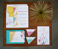 Mid-century modern wedding invitations