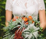 Air plant and wildflower bouquet