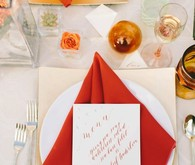 Geometric modern wedding inspiration
