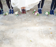 Bridesmaid blue shoes