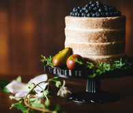 Blueberry and fruit naked cake