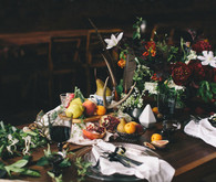 Dramatic dutch inspired tablescape