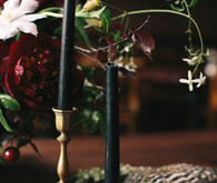 Gold and black candlesticks