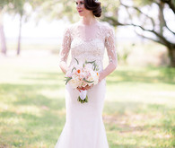 Elegant long sleeved wedding dress