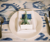 Elegant Playful Charleston Wedding Place Setting