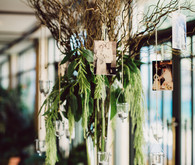 Modern wedding floral decor