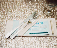 Modern Nebraska Wedding Place Setting