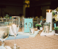 Modern Nebraska Wedding Table Numbers