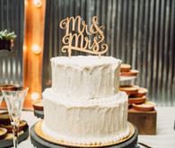 White modern cake with