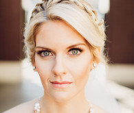 Modern wedding braided hairstyle with chunky necklace