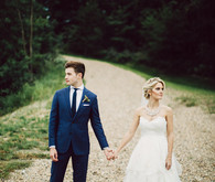 Modern Nebraska Wedding Portrait
