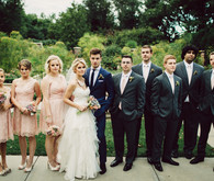 Modern Nebraska Wedding Party