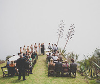 Colorful Bohemian Big Sur Wedding Ceremony