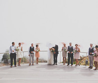 Colorful Bohemian Big Sur Wedding Party