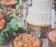 Pie and cake dessert table