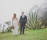 Colorful Bohemian Big Sur Wedding Portraits