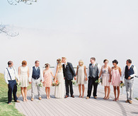 Colorful Bohemian Wedding Party