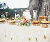 Bohemian wedding dessert table