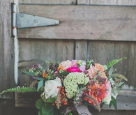 Colorful Bohemian Wedding Bouquet