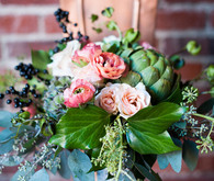 Green and Pink Bridal Bouquet