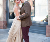 Intimate Restaurant Wedding Portrait