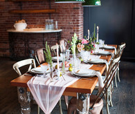 Intimate Restaurant Wedding Tablescape