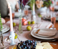 Intimate Restaurant Wedding Food