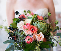 Green and pink bouquet