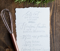 Calligraphy white and blue menu