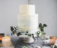 Bohemian Seaside Wedding Cake