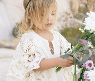 Bohemian flower girl with