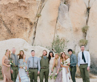 Wedding party in the desert