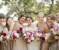 Modern Art Museum Wedding Bridesmaids
