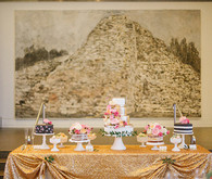 Modern Art Museum Wedding Dessert Table