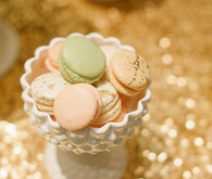 Cream colored macarons